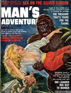 MAN'S ADVENTURE, March 1961. Painting probably by Norm Eastman  www.sportinglifeblog.com