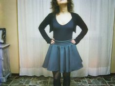 diy sewing - flared bell wool skirt