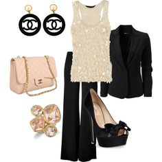 """""""Pale Pink and Black"""" by joyforever143 on Polyvore"""