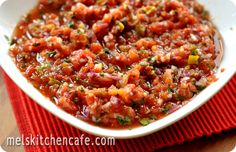 Divine One-Minute Salsa - definitely the best combination of flavors I've ever had in a salsa.
