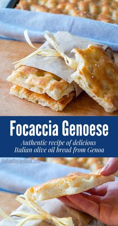 This Classic Focaccia recipe is the mother to all flatbreads. With delicious olive oil crust it's impossible to resist! Italian Olives, Italian Soup, Italian Chef, Italian Dishes, Italian Pastries, Italian Bread, Italian Recipe Book, Italian Recipes, Italian Foods