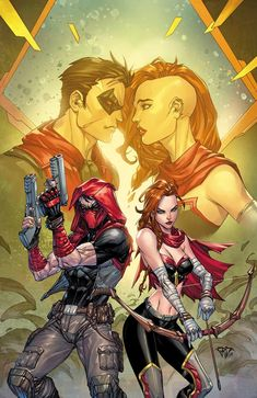Red Hood Outlaw cover - Artemis by Paulo Pantalena, colours by Arif Prianto * Batman Comic Art, Gotham Batman, Batman Robin, Arsenal Dc Comics, Red Hood Comic, Chihiro Cosplay, Red Hood Jason Todd, Jason Todd Batman, Manga Anime