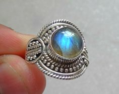 Labradorite Ring Silver Ring Silver by SterlingSilverVenue on Etsy