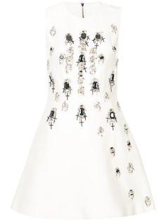 Shop Thomas Wylde gemstone and cross embellished dress.