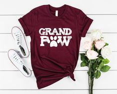 1st Anniversary Gifts, Boyfriend Anniversary Gifts, Boyfriend Gifts, Great Grandma Gifts, Grandparents Day Gifts, Paws Shirt, Dog Shirt, Granny Gifts, Birthday Presents For Him