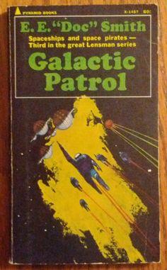"JACK GAUGHAN - art for Galactic Patrol (Lensmen #3) by E.E. ""Doc"" Smith - 1966 Pyramid paperback"