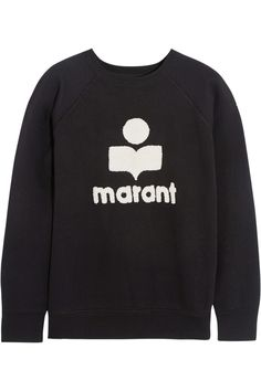 Étoile Isabel Marant | Cody terry-embroidered cotton-blend jersey sweatshirt | NET-A-PORTER.COM