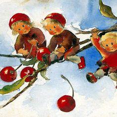 """Illustration- Mili Weber (1891-1978)  """"The Cherry Children"""""""