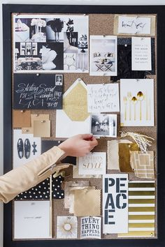 Tour the Stylish Office of a Los Angeles Production Company Workspace Inspiration, Inspiration Wall, Cork Board Ideas For Bedroom, Bedroom Ideas, Bedroom Decor, Office Bulletin Boards, Diy Birthday, Birthday Board, California Cool
