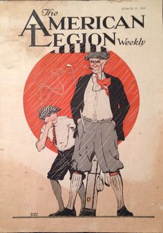 The American Legion Weekly Magazine March 1925 Golf Cover