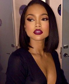 Beautiful Bob on @karrueche - https://community.blackhairinformation.com/hairstyle-gallery/celebrities/beautiful-bob-on-karrueche/