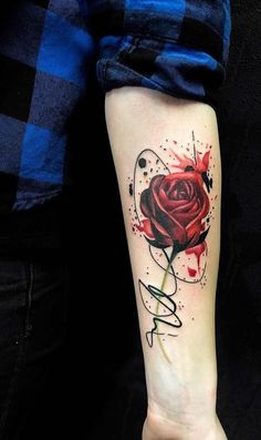Feed Your Addiction With 50 Of The Most Beautiful Rose Tattoo Designs For Men And .- Füttere deine Sucht mit 50 der schönsten Rose Tattoo Designs für Männer und … Feed your addiction with 50 of the most beautiful rose tattoo … - Neue Tattoos, Music Tattoos, Body Art Tattoos, Hand Tattoos, Tattoo Ink, Tatoos, Tiny Tattoo, Tattoo Fonts, Tattoo Drawings