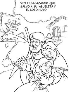 Caperucita Roja Coloring Sheets, Coloring Pages, Community Helpers Worksheets, Red Riding Hood Party, Paper Flowers For Kids, Art Pages, Little Red, Nursery Rhymes, Fairy Tales