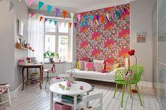 Diseño de Interiores & Arquitectura: Apartamento escandinavo con ricos e inspiradores detalles de Color