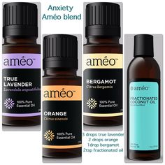 Améo Essential Oil: Anxiety Blend. Learn more or purchase oils at rocketwitangela.myzija.com. Contact information is on website