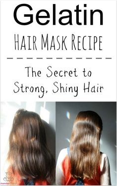 Gelatin Hair Mask – The keratin proteins found in gelatin bind with hair to strengthen it, boost shine, and reduce breakage. Gelatin Hair Mask – The keratin proteins found in gelatin bind with hair to strengthen it, boost shine, and reduce breakage. Gelatin Hair Mask, Diy Masque, Diy Hair Mask, Hair Remedies, Natural Remedies, Unwanted Hair, Strong Hair, Hair Repair, Beauty Tips