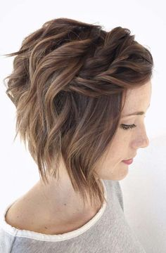 braided curly bob