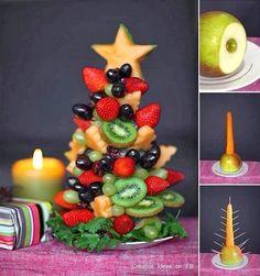torta de brochetas de frutas para niños - Buscar con Google
