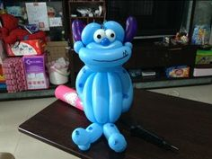 造型氣球 monsters university balloon 折氣球 怪獸大學 毛怪 GLOBOFLEXIA 風船 バルーンアート - YouTube