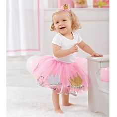 b50033a38d9c Happy Birthday Princess! love the pink and gold for a first birthday party Mud  Pie