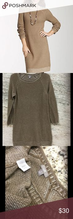 J.Jill Wool Blend sweater knit dress Shiitake Brown textured knit dress size small will fit up to large you could see it in last picture great condition Boot is for sale to 👢👢 J. Jill Dresses