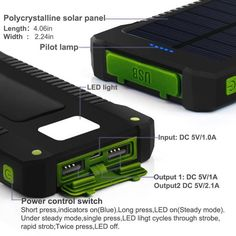 Waterproof Solar Power Charger-Phone Charger-AzureTurtle
