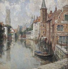Henri Cassiers - Vue de Bruges