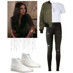 Emily Fields - pll / pretty little liars by shadyannon on Polyvore featuring mode, Glamorous, Topshop, rag & bone and Vans