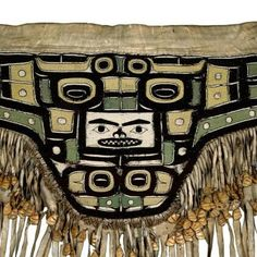 Chilkat apron. Early 19th century. @cargocultist