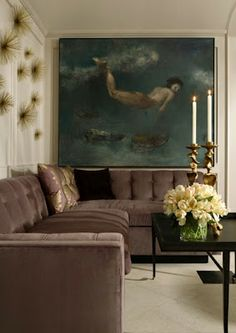 love the artwork / melanie turner showhouse in Atlanta Home & Lifestyles