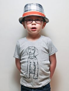 Eco Oat- Dog Thread Drawing Tee- Toddler (3,4, 6, 8, 10)