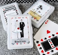 Elite Design Personalised Wedding Playing Card Favours