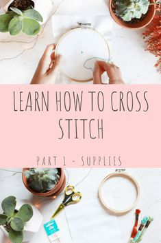 Learn How to Cross Stitch: Part 1 – Supplies Welcome to a beginner cross stitch series where I teach you how to do the different methods of cross stitching. This part of the series focuses on the supplies that you need for cross stitching. Cross Stitch Letters, Cross Stitch Bookmarks, Cross Stitch Art, Cross Stitch Borders, Cross Stitch Animals, Cross Stitch Designs, Cross Stitch Embroidery, Stitch Patterns, Towel Embroidery