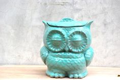 Owl  large Cookie jar in mint by claylicious on Etsy, $65.00