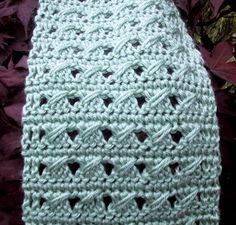 My June Scarf By Suzetta - Free Crochet Pattern - (suzies-yarnie-stuff.blogspot)