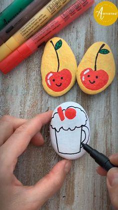 Rock Painting Patterns, Rock Painting Ideas Easy, Rock Painting Designs, Painting For Kids, Floating Day, Painted Rocks Kids, Rock Design, Beginner Painting, Paint Pens