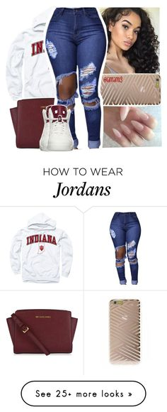 """""""when can't nobody act right for you"""" by lamamig on Polyvore featuring Sonix, MICHAEL Michael Kors and NIKE"""