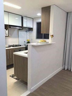 Cozinha Mrv (Decorado) Kitchen Interior, Kitchen Design Small, Home N Decor, Small Kitchen, Kitchen Remodel, Kitchen Decor, Home Decor, House Interior, Kitchen Design