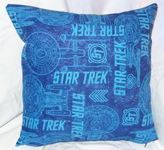 The first in the Star Trek pillow line.  This is a special fabric I love that I can no longer find!  So it is a limited series.  It is a 14 inch pillow with a zipper on the bottom for easy washing.