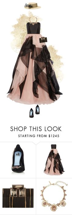 """So this is love."" by andrea-garzon ❤ liked on Polyvore featuring Lanvin, Reem Acra, Rauwolf, Oscar de la Renta, Eugenia Kim, gold, brown, gown and promstory"