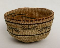 Line By Line ~~ Double Wall Basket Hand Woven Natural Plant Materials