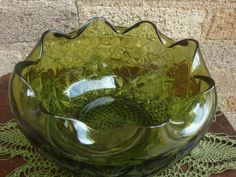 Indiana Glass Green Bowl by PlayfullyVintage on Etsy