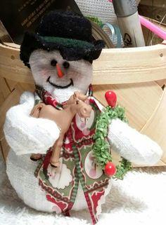 Stuffed Horse Snowman