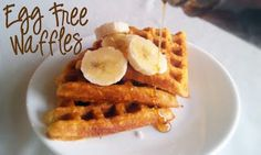 Egg Free Bakery: Egg Free Waffles. Really fluffy - surprisingly so. Although def add some sugar. I replaced the applesauce with greek yogurt since I was all out, and 1/4 cup brown sugar, dash of cinnamon. Yum yum!