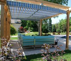 49 DIY Pergola Plans & Ideas You Can Build in Your Garden #pergola #diy #ideas Gazebo Pergola, Covered Pergola, Cheap Pergola, Pergola Shade, Pergola With Roof, Wooden Pergola, Building A Pergola, Pergola Kits, Pergola Designs