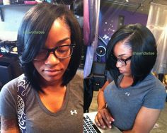 Full Sew In Hairstyles | ... protective lifestyle sew -in cut into a bob. She can re-use this hair