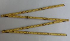 Vintage J C Penny Wood 6 foot Folding Tape Measure No 2595 Yellow Made in U.S.A. by RocktheJewels on Etsy