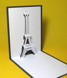 Eiffel Tower in Paris Pop Up Card