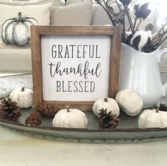 52 Rustic Farmhouse Bohemian Decorating Ideas - All About Decoration Blessed Sign, Thankful And Blessed, Grateful, Fall Home Decor, Autumn Home, Rustic Fall Decor, Thanksgiving Signs, Fall Projects, Diy Projects