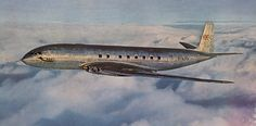 """Vintage Helicopters De Havilland Comet 1 G-ALVG during testing in The """"Speedbird"""" symbol of BOAC, the launch customer, can be seen towards the front of the aircraft. De Havilland Comet, British Aerospace, Air Festival, Cargo Airlines, Commercial Aircraft, Nose Art, Aviation Art, Vintage, Golden Age"""